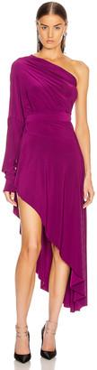 Norma Kamali for FWRD All In One Hi Low Dress in Raspberry | FWRD