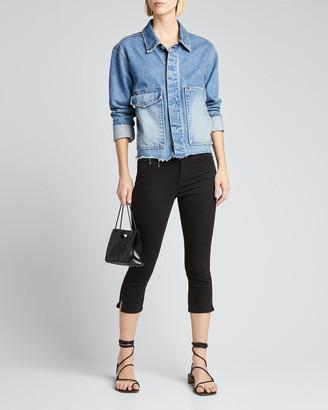 Frame Le High Pedal Pusher Jeans, Black