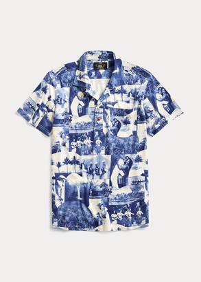 Ralph Lauren Photo-Print Jersey Camp Shirt