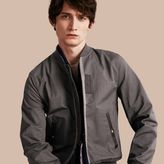 Burberry Matte Technical Cotton Bomber Jacket
