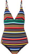 Stella McCartney Striped Swimsuit - Forest green