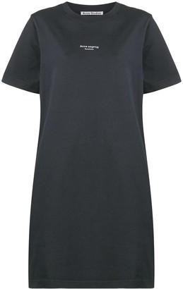 Acne Studios Reverse-logo T-shirt dress