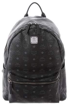 MCM Visetos Leather-Trimmed Backpack