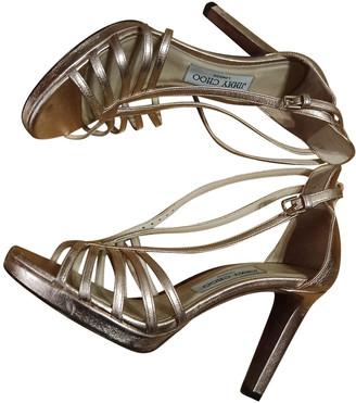 Jimmy Choo Metallic Leather Sandals