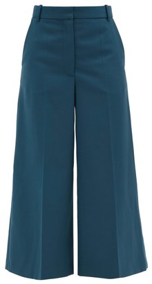 Joseph Travis Twill Cropped Wide-leg Trousers - Green