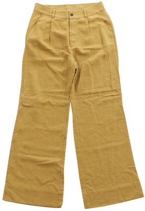 Ulla Johnson Yellow Other Trousers