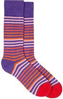 Paul Smith Men's Striped Cotton-Blend Mid-Calf Socks-PINK