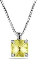 David Yurman Ch'telaine Pendant Necklace with Lemon Citrine and Diamonds