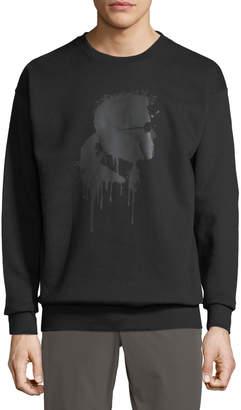 Karl Lagerfeld Paris Men's Head Graphic Sweatshirt