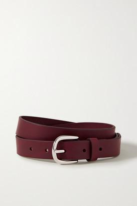 Isabel Marant Zap Leather Belt - Burgundy
