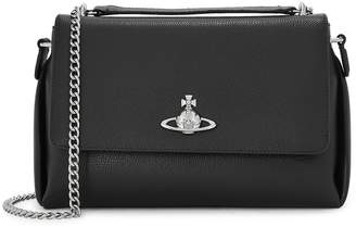 Vivienne Westwood Windsor Black Leather Cross-body Bag
