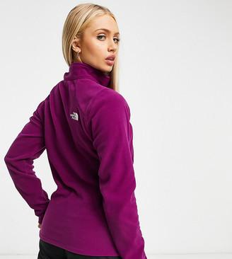 The North Face 100 Glacier 1/4 zip fleece in purple Exclusive at ASOS