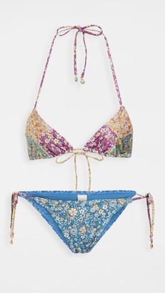 Zimmermann Carnaby Spliced Tri Bikini Set