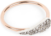 Annina Vogel 9 carat rose gold and diamond wing ring