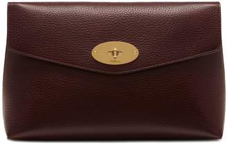 Mulberry Large Darley Cosmetic Pouch Oxblood Natural Grain Leather