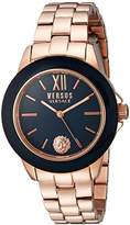 Versus By Versace Women's 'Abbey Road' Quartz Stainless Steel Casual Watch, Color:Rose Gold-Toned (Model: SCC080016)