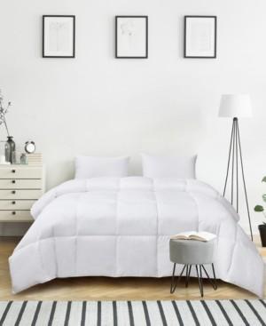 Kathy Ireland Ultra-Soft Nano-Touch All Season White Down Fiber Comforter, Full/Queen