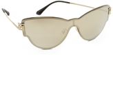 Versace Greca Strass All Lens Mirrored Sunglasses