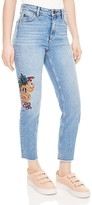 Sandro Basil Cropped Straight-Leg Jeans in Blue Vintage
