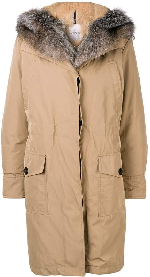 6eeba78dc zipped hooded parka coat