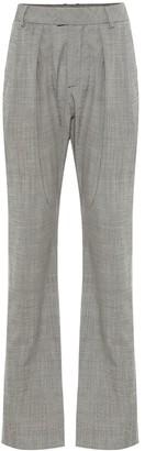Matthew Adams Dolan High-rise stretch-wool pants