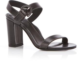 Marion Parke Lang Leather Block-Heel Sandals