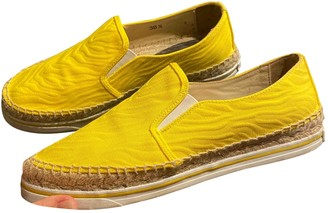 Jimmy Choo Yellow Leather Espadrilles