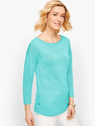 Talbots Linen Side Button Sweater