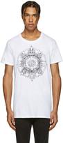 Balmain White New Logo T-shirt