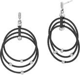 Alor Black Cable Drop Earrings