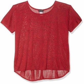 Star Vixen Women's Plus-Size Dolman SLV Hi-Low Hem Easy-Wear Sweater Knit Top