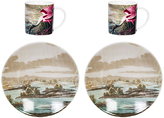 Magpie Birds Spoonbill Espresso Set