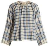 Ace&Jig Farrah gathered-neck striped cotton blouse