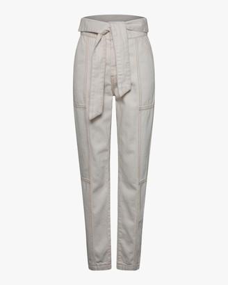 Jonathan Simkhai STANDARD Henley Tie-Waist Straight Pants