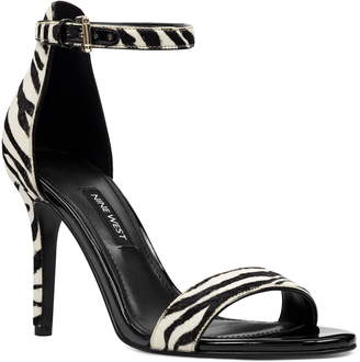 Nine West Ankle Strap Genuine Calf Hair Sandal
