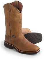 """Chippewa Golden Sand Crazy Horse Leather Cowboy Boots - Square Toe, 12"""""""