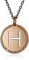"Rebecca Word"" Rose Gold Over Bronze Letter ""H"" Necklace, 32"""