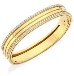 Roberto Coin Portofino 18K Yellow Gold& Diamond Bangle