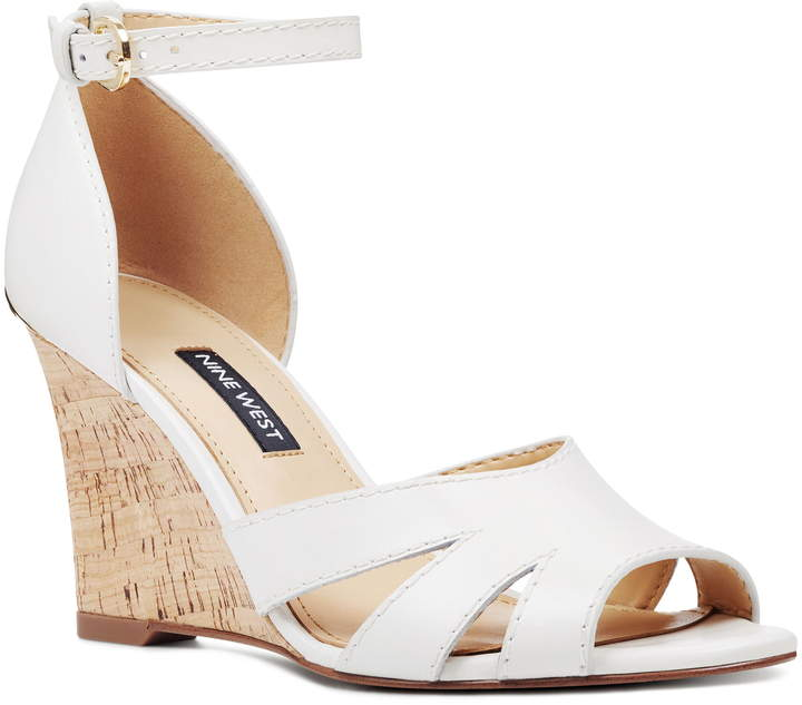 a42880f5ac Nine West White Wedge Sandals For Women - ShopStyle Canada