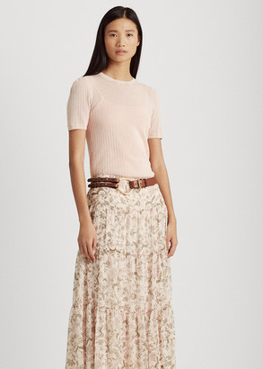 Ralph Lauren Floral Tiered Georgette Skirt