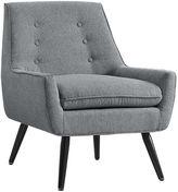 Asstd National Brand Trelis Flannel Tufted Fabric Club Chair
