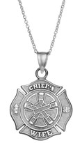 """Insignia Collection Sterling Silver """"Chief's Wife"""" Maltese Cross Pendant Necklace"""
