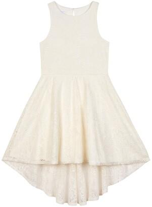 Badgley Mischka Ivory Lace Hi-Low Dress