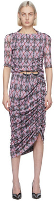 Y/Project Pink Argyle Convertible Dress