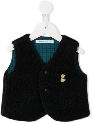 Familiar shearling waistcoat style jacket