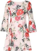 Izabel London Floral Flare Sleeve Dress