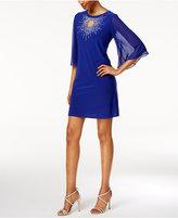 MSK Petite Embellished Keyhole Starburst Dress