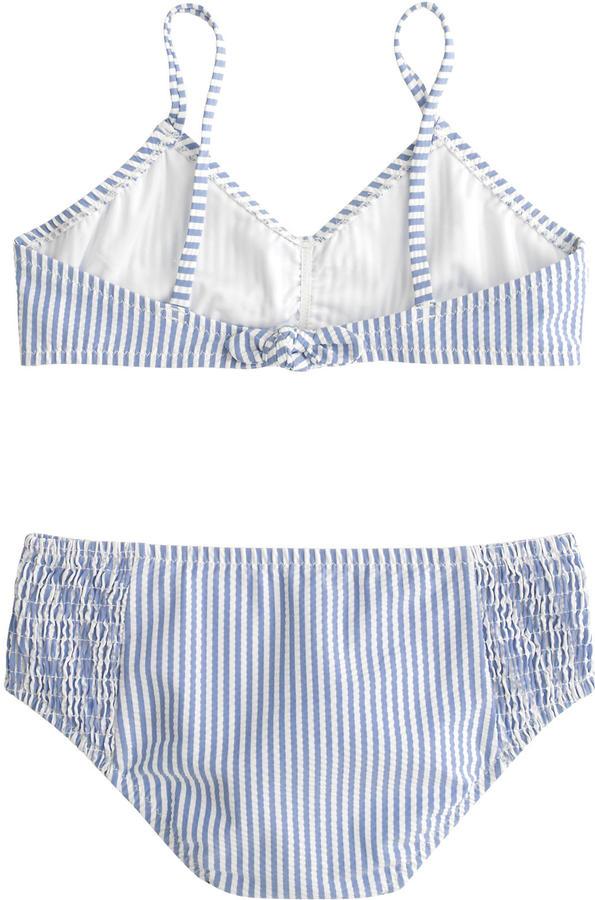 J.Crew Girls' bikini set in seersucker