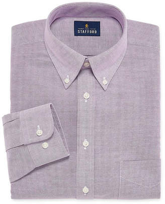 STAFFORD Stafford Travel Wrinkle Free Stretch Oxford Mens Button Down Collar Long Sleeve Dress Shirt Big and Tall