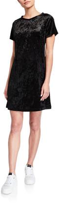 Melissa Masse Crushed Velvet T-Shirt Dress